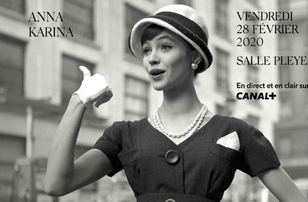 Anna Karina sur l'affiche des César 2020