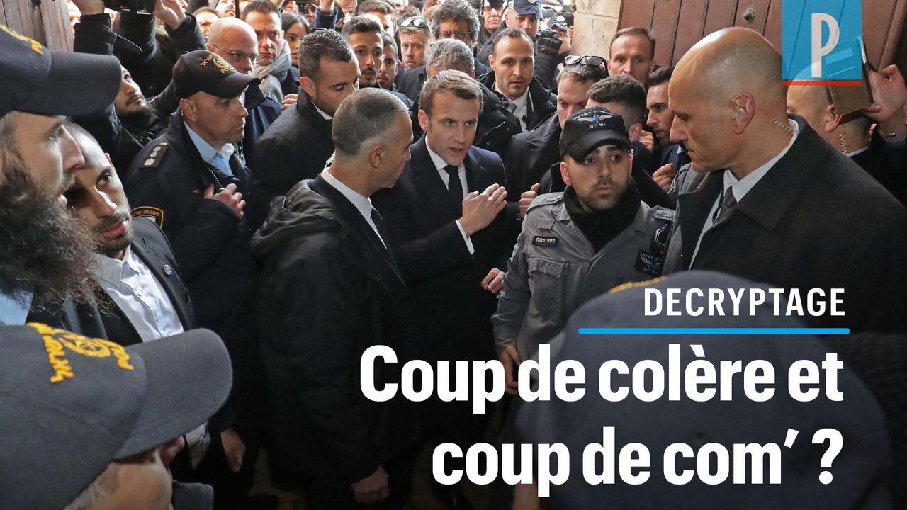 VIDÉO. Colère de Macron à Jérusalem : coup de sang et coup de com' ?