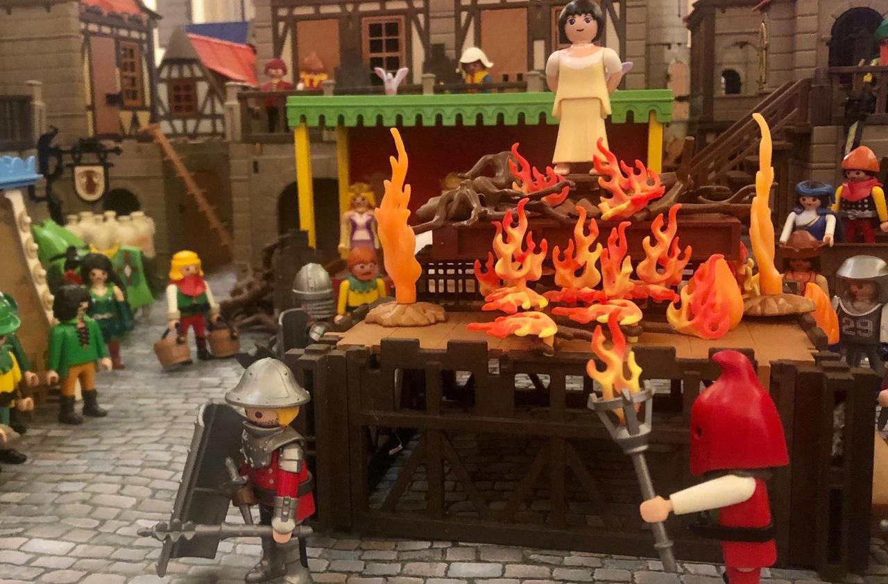 Exposition : à Rouen, l'épopée de Jeanne d'Arc reconstituée en Playmobil - Le Parisien
