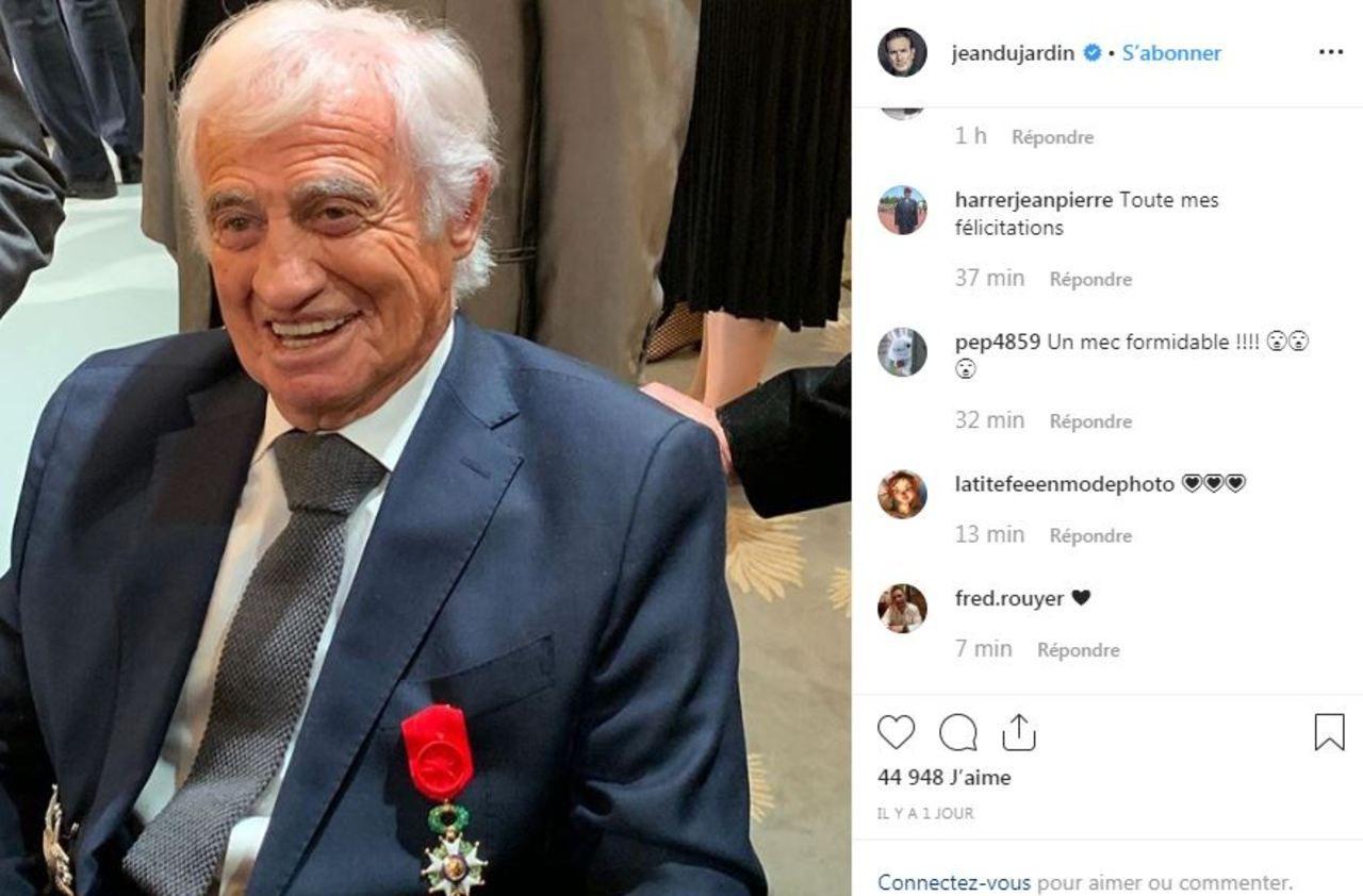 Jean-Paul Belmondo fait grand officier de la Légion d'honneur