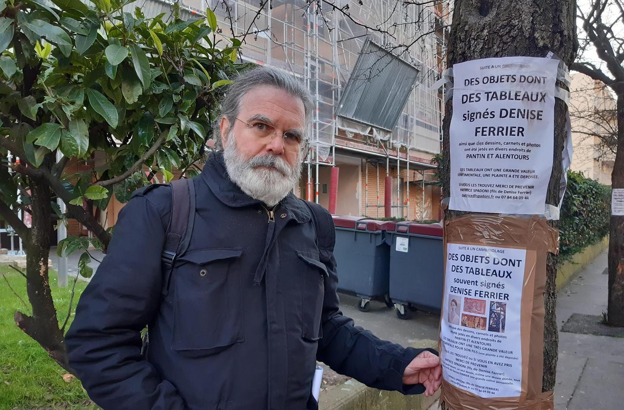 Il recherche les tableaux de sa mère abandonnés dans la rue à Pantin après un cambriolage à Paris