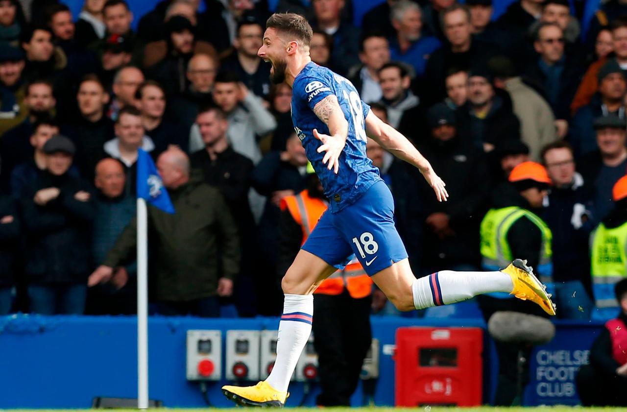 Premier League : Giroud, titulaire et buteur avec Chelsea