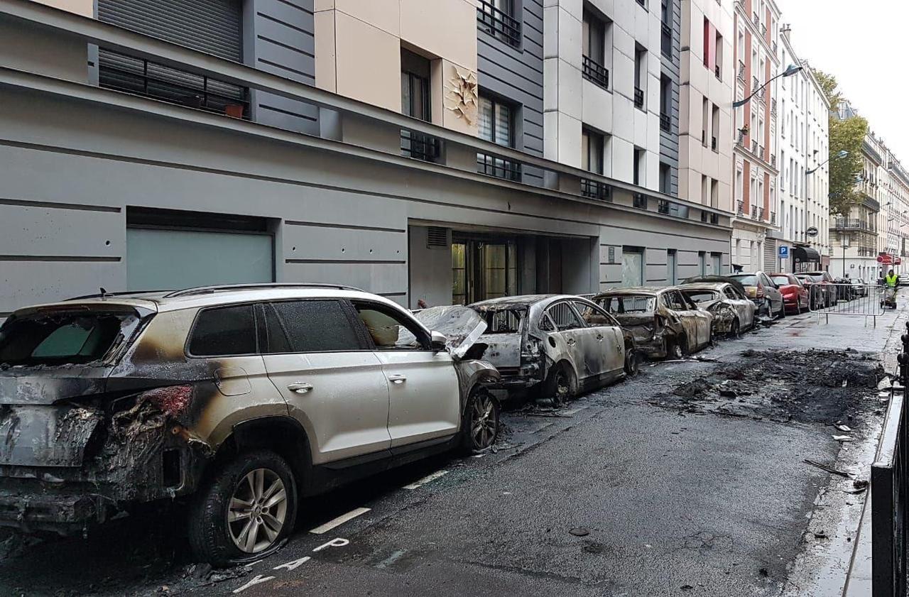 Hauts-de-Seine : la BMW s'embrase en roulant à Clichy, six autres voitures prennent feu - Le Parisien