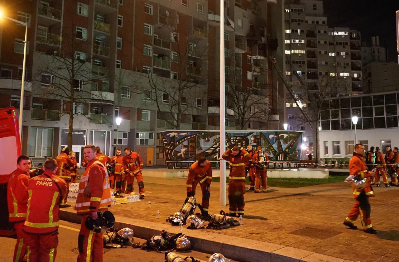 La Courneuve : 100 pompiers mobilisés pour un spectaculaire incendie, 140 personnes évacuées