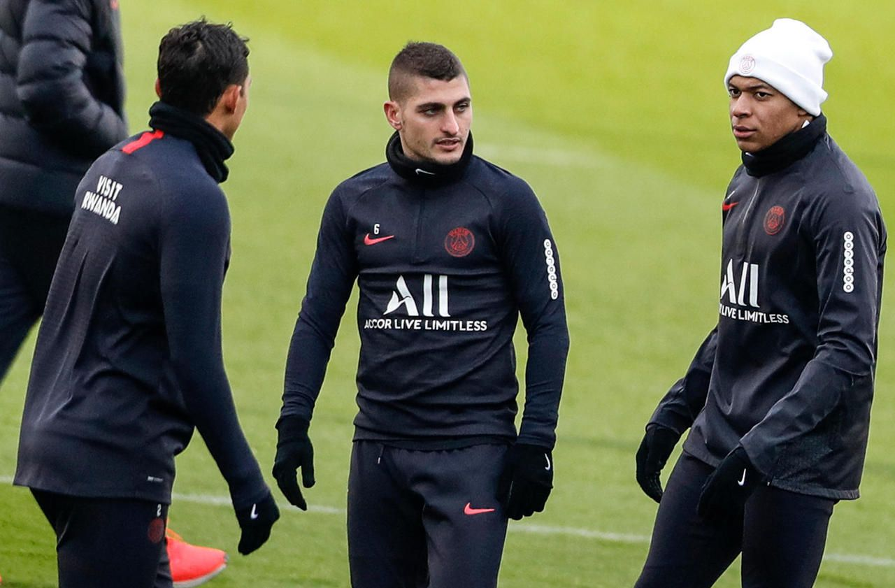 PSG-Galatasaray : Cavani incertain, Verratti avec le groupe