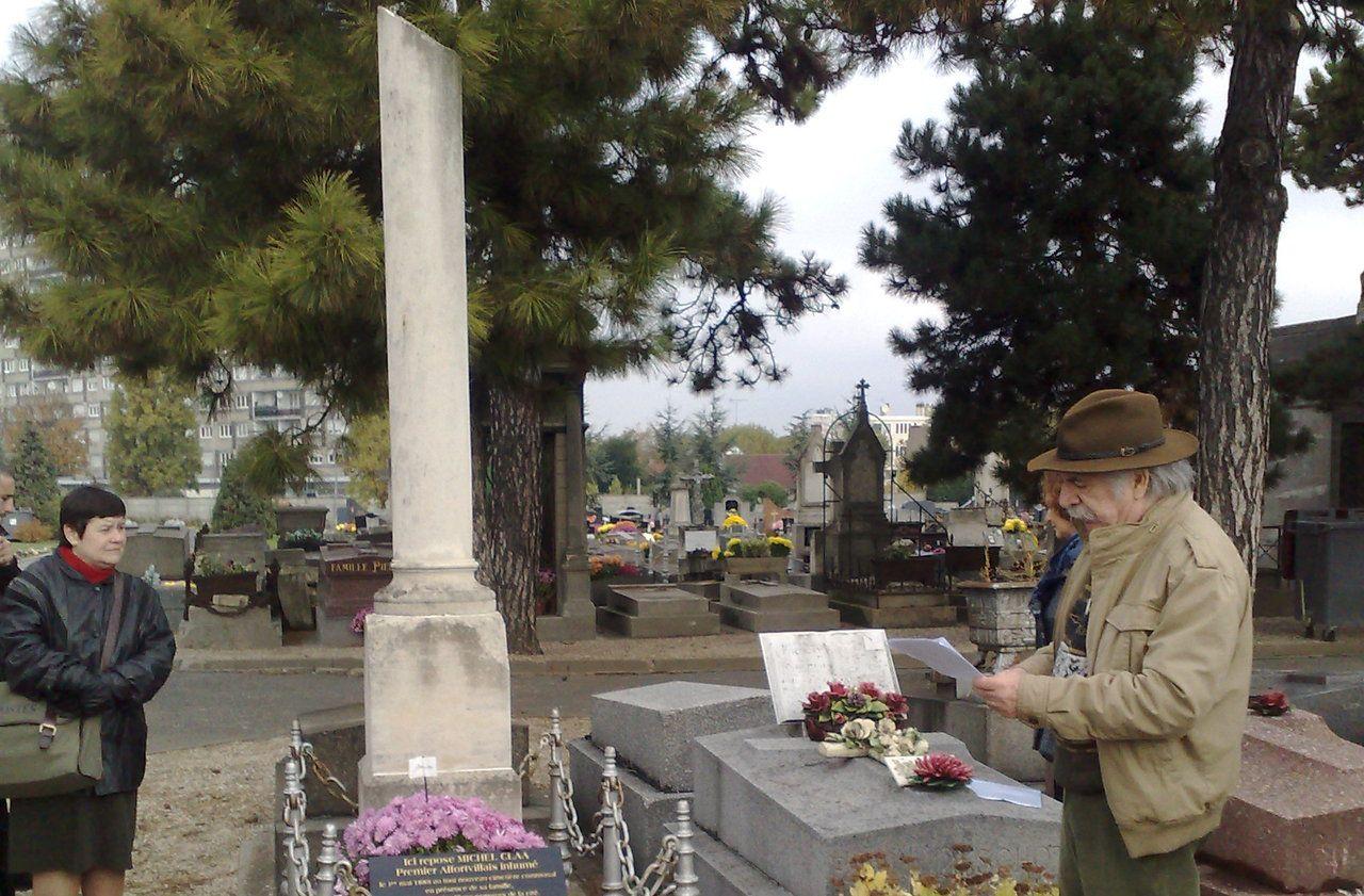 Alfortville : la tombe de Michel Clâa, un symbole laïc pour les libres-penseurs - Le Parisien