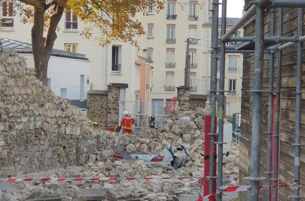 A Bagnolet, un mur d'enceinte s'effondre au collège - Le Parisien