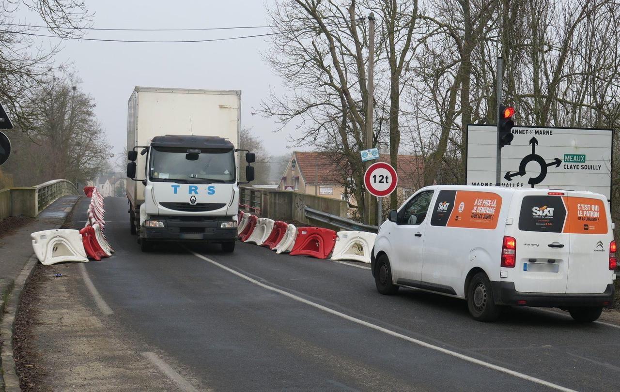 Seine-et-Marne : les poids lourds limités sur deux ponts fragilisés