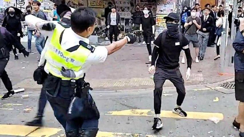 Hong Kong : un manifestant blessé par balle, un homme brûlé vif - Le Parisien