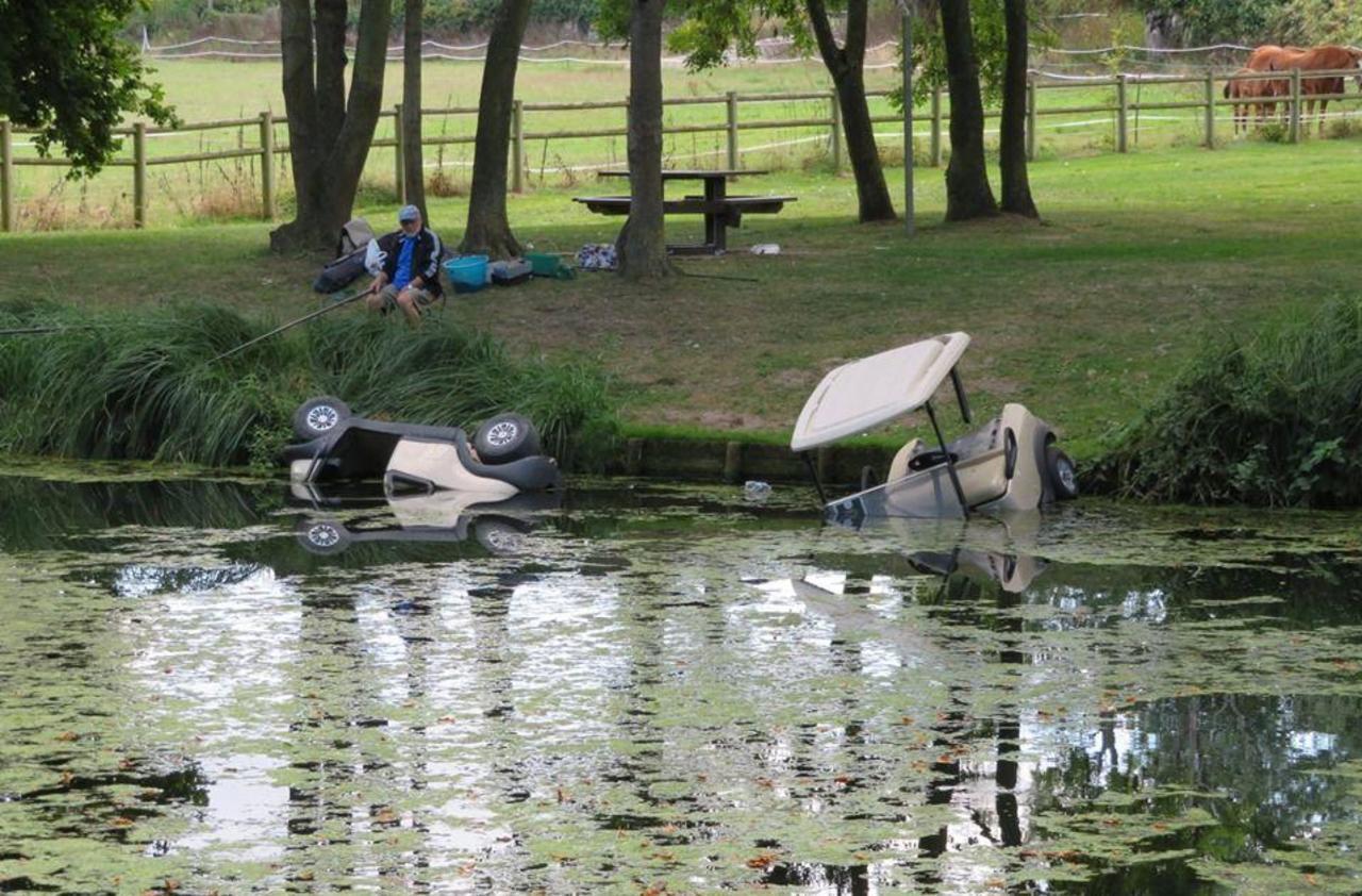 Marolles-Santeny : leur rodéo en golfette finit dans l'étang - Le Parisien