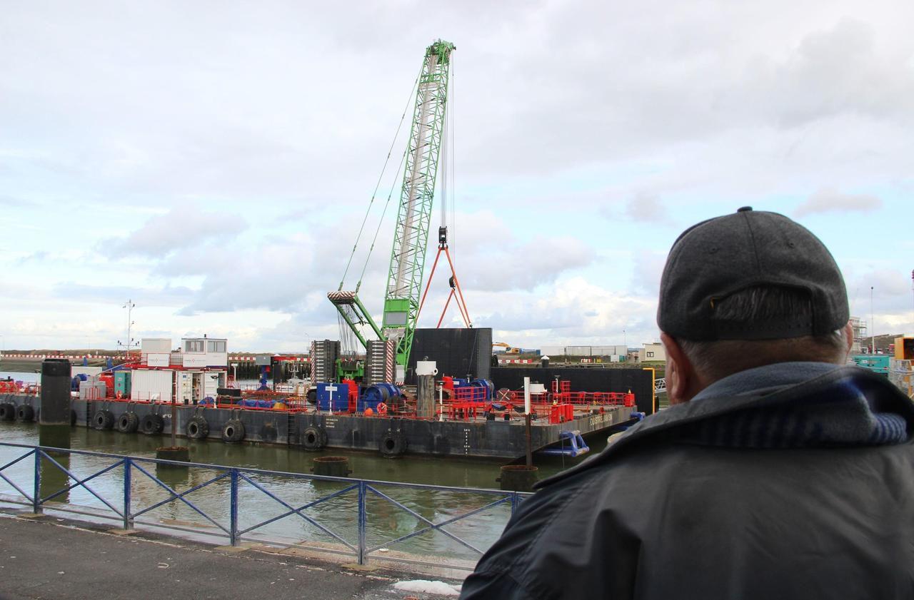 A Ouistreham, un chantier pour gagner 3 hectares sur la mer - Le Parisien