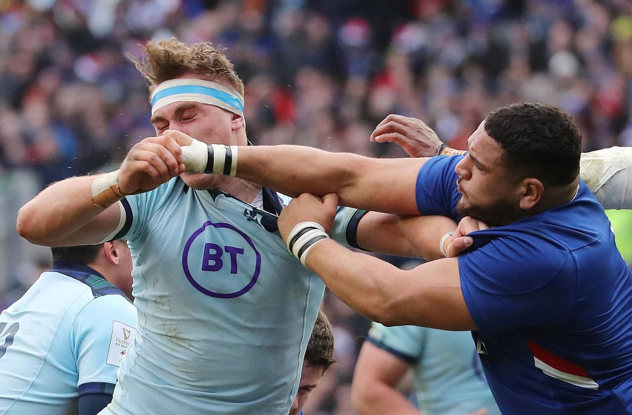 Six Nations Tournament Mohamed Haouas Takes A Red Card Against Scotland Archyde