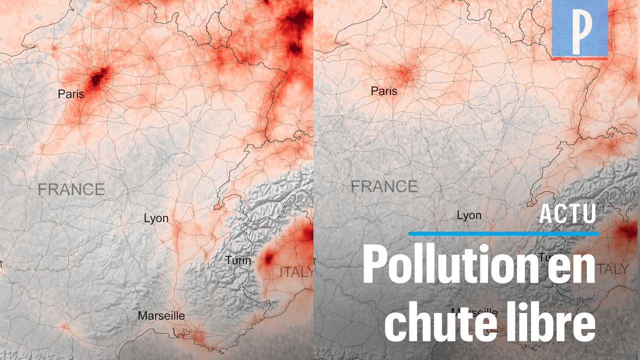 VIDÉO. Vue de l'espace, la pollution chute drastiquement en Europe
