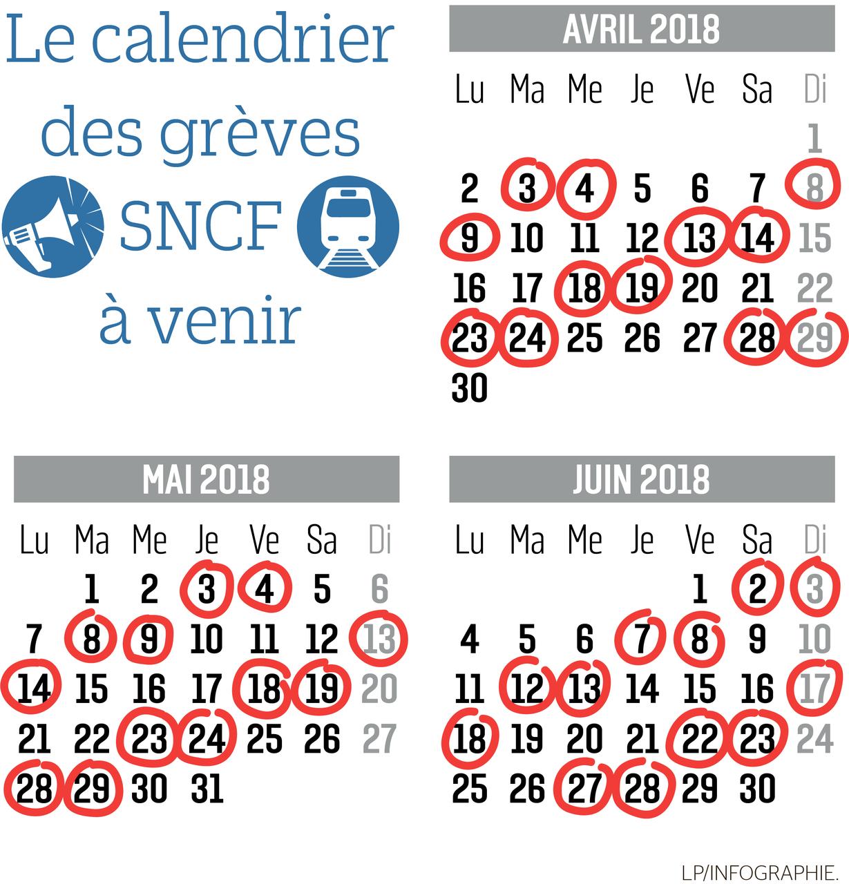 Calendrier Greve Sncf 2020.Sncf Voici Les Jours De Greve Prevus Jusqu En Juin Le