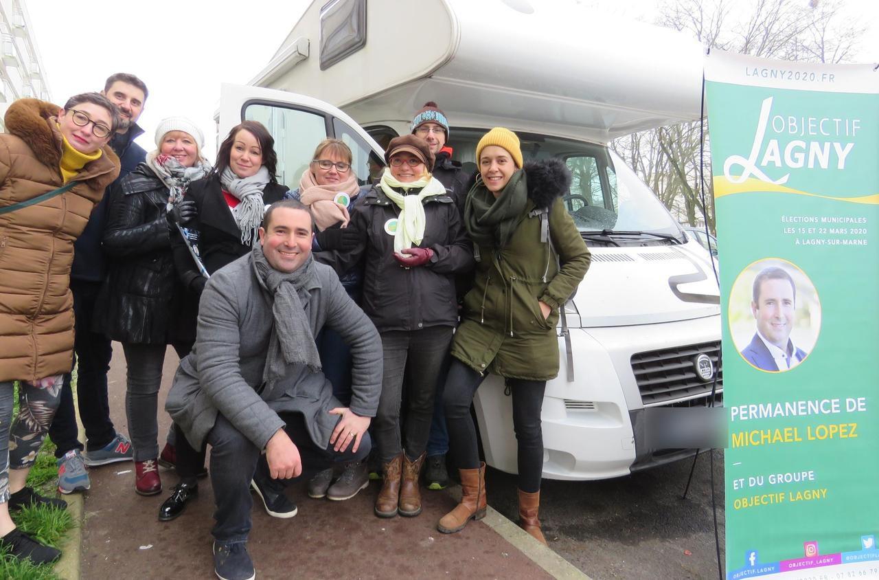 Municipales à Lagny : il fait campagne dans un camping-car