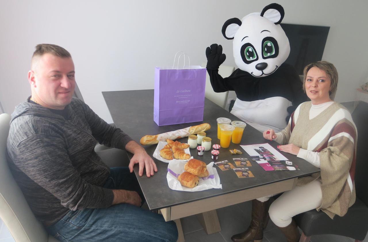 Dans le Compiégnois, un panda vous livre le petit-déjeuner à domicile