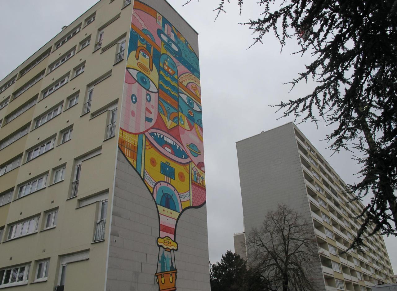 Bagneux : une fresque éphémère pour égayer la réhabilitation de la Pierre-Plate - Le Parisien