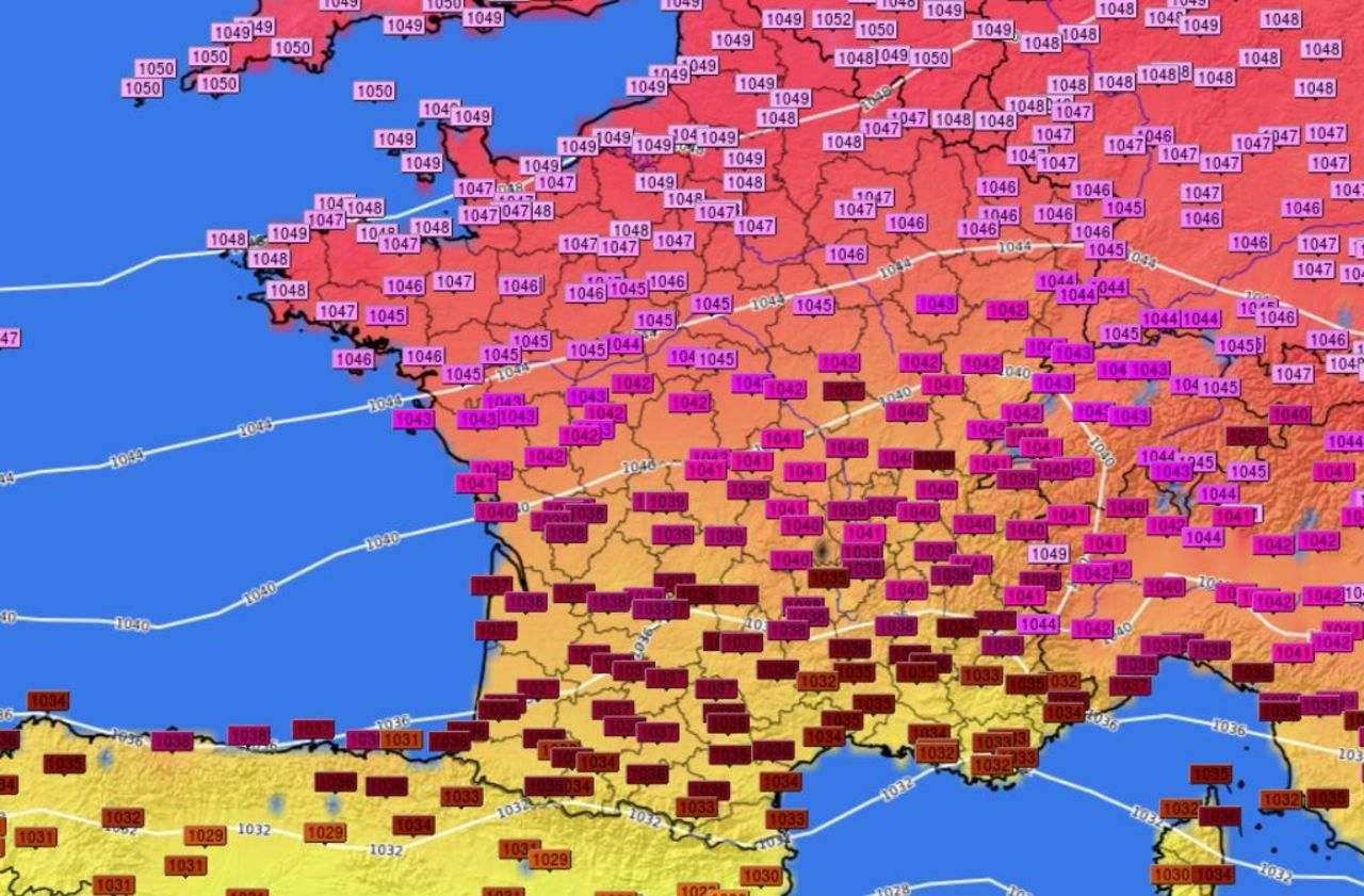 Météo : gros coup de pression (atmosphérique) sur la France !